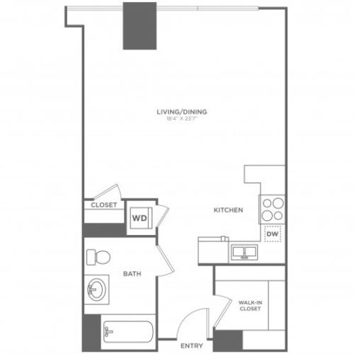 SD Mendel | Studio1 bath | from 637 square feet
