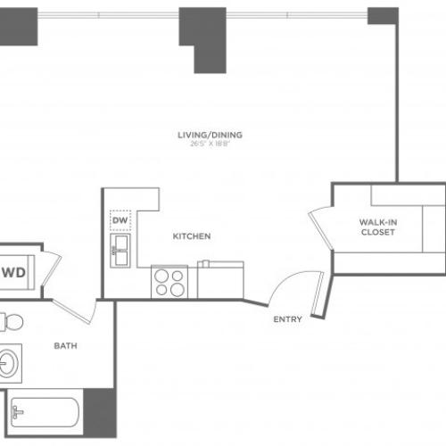 SG Barton | Studio1 bath | from 648 square feet
