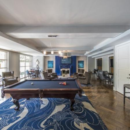 Play a game of pool with friends around our billiards table