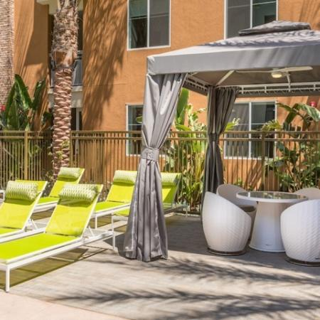 Outdoor Cabana + Lounge Chairs