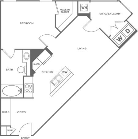 Alder | 1 bed 1 bath | from 630 square feet