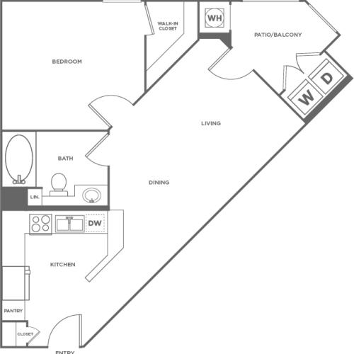 Birch | 1 bed 1 bath | from 630 square feet