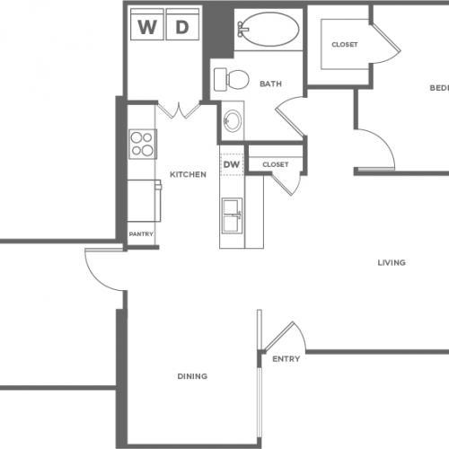 Douglas Fir | 1 bed 1 bath | from 797 square feet