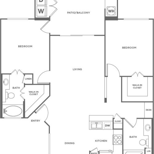 Ficus | 2 bed 2 bath | from 1042 square feet