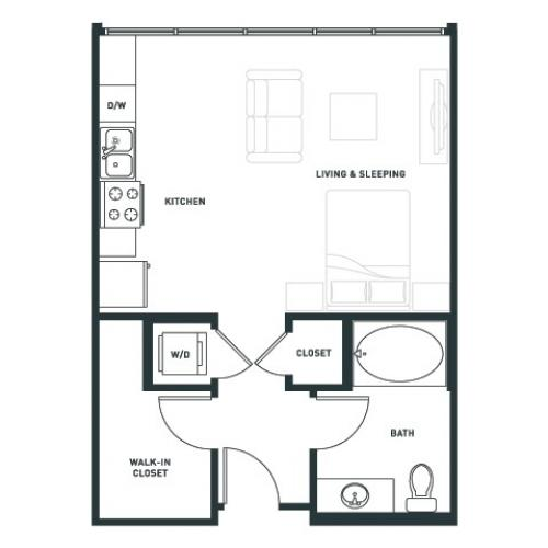 S1 | Studio1 bath | from 527 square feet