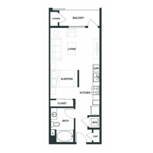 S2 | Studio1 bath | from 539 square feet
