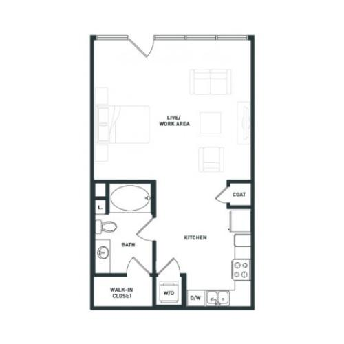 S3 | Studio1 bath | from 649 square feet
