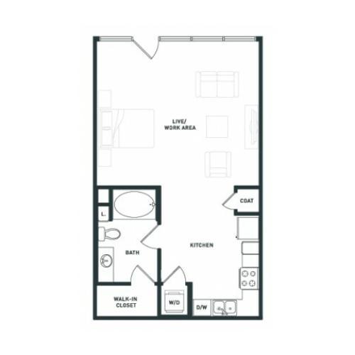S3 | Studio1 bath | from 649 square feet