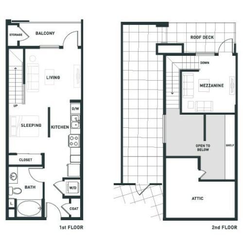 S4L | Studio1 bath | from 680 square feet