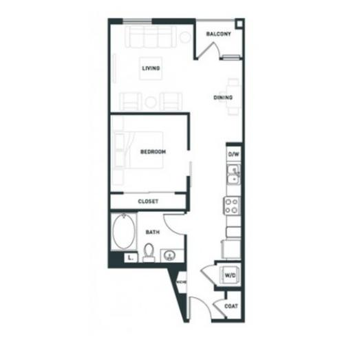 A3 | 1 bed 1 bath | from 662 square feet