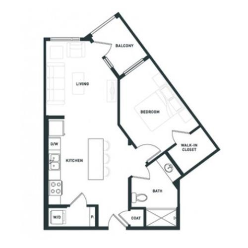 A4 | 1 bed 1 bath | from 703 square feet
