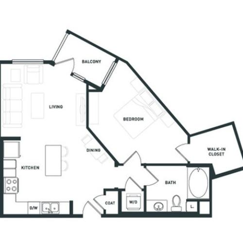 A6 | 1 bed 1 bath | from 762 square feet