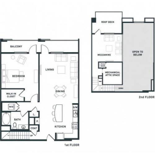 A9L | 1 bed 1 bath | from 1307 square feet