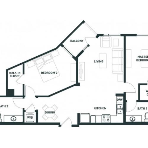 B2 | 2 bed 2 bath | from 1055 square feet