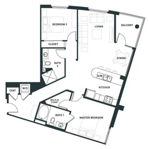 B5 | 2 bed 2 bath | from 1180 square feet