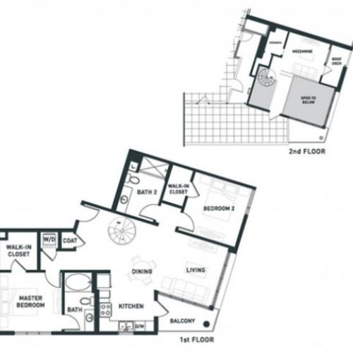 B6L | 2 bed 2 bath | from 1201 square feet