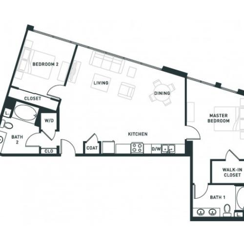 B7 | 2 bed 2 bath | from 1202 square feet