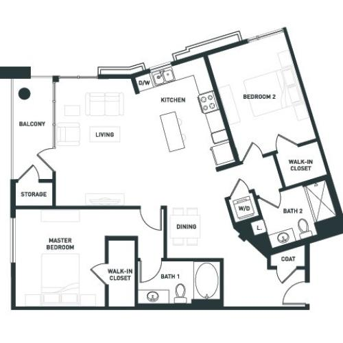 B9 | 2 bed 2 bath | from 1236 square feet