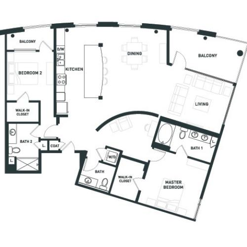 B11 | 2 bed 3 bath | from 1634 square feet