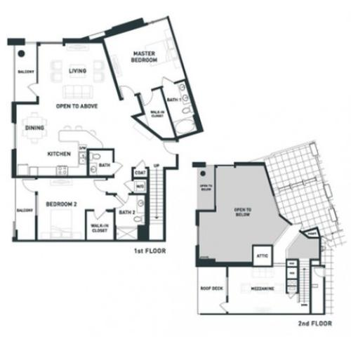 B13L | 2 bed 3 bath | from 2050 square feet