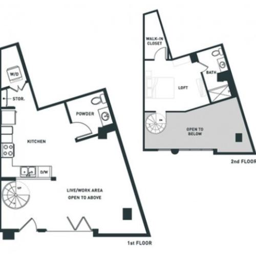 S5L | Studio2 bath | from 932 square feet