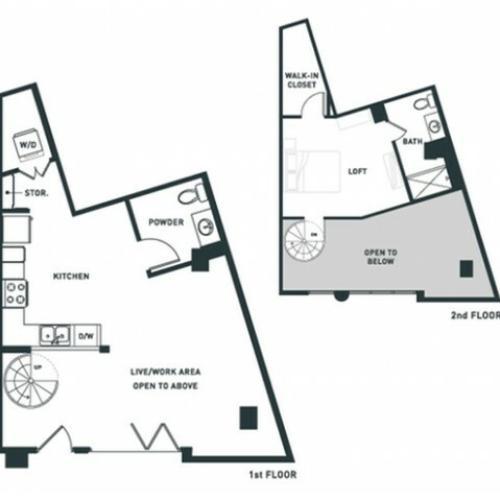 S5L | Studio2 bath | from 932 square feet