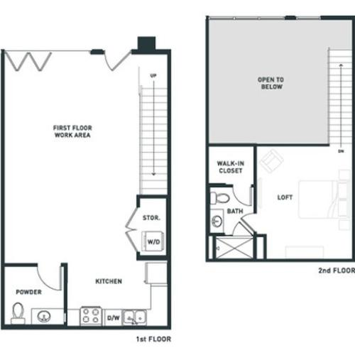 S6L | Studio2 bath | from 967 square feet