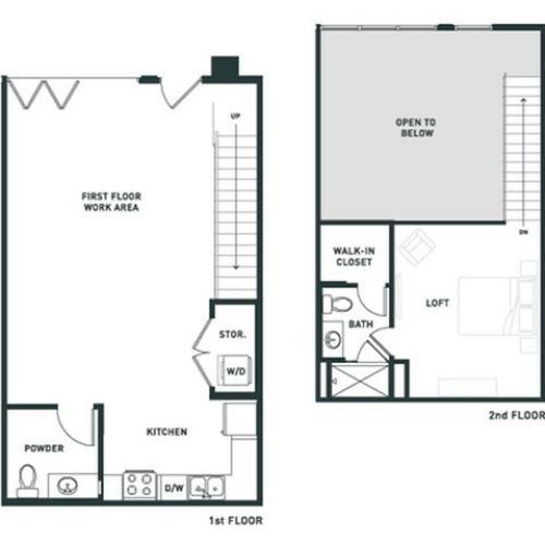 S6L | Studio2 bath | from 967 square feet