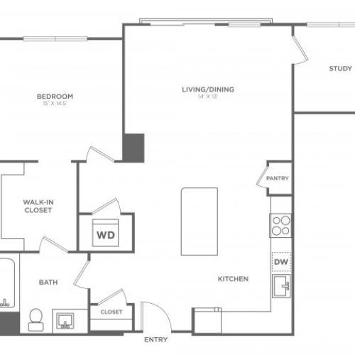 Birch West | 1 bed 1 bath | from 910 square feet