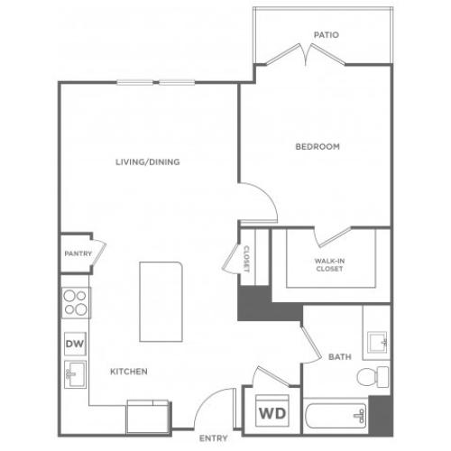 Walnut West | 1 bed 1 bath | from 770 square feet
