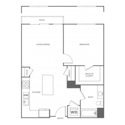 Persimmon West | 1 bed 1 bath | from 759 square feet