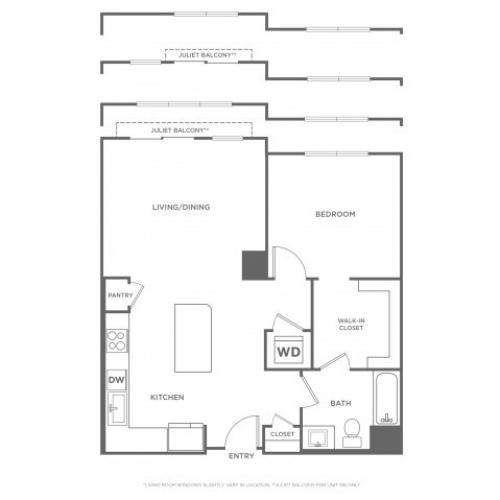 Basswood West | 1 bed 1 bath | from 809 square feet