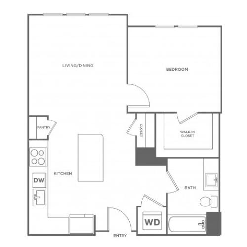 Cedar West | 1 bed 1 bath | from 746 square feet