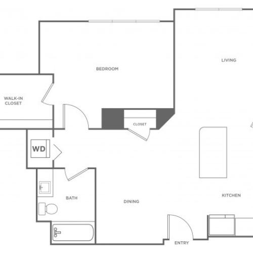 Olive West | 1 bed 1 bath | from 929 square feet