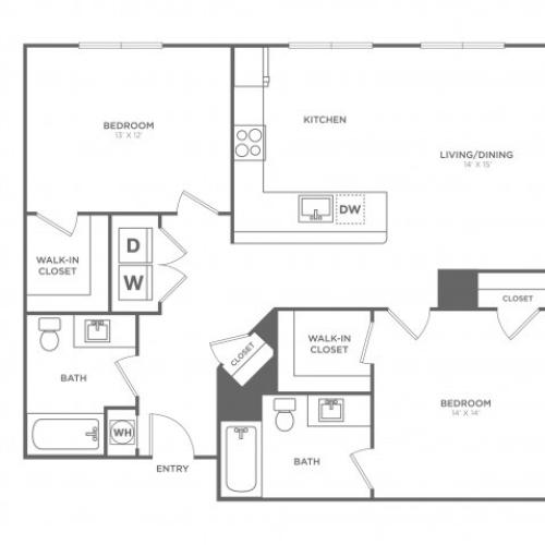 Cypress West | 2 bed 2 bath | from 1118 square feet