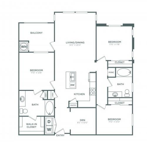 The San Clemente | 3 bed 2 bath | from 1448 square feet