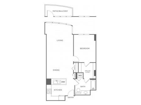 Plan 6 | 1 bed 1 bath | from 720 square feet