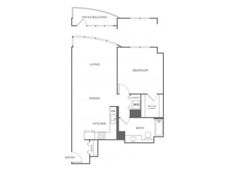 Plan 9 | 1 bed 1 bath | from 752 square feet