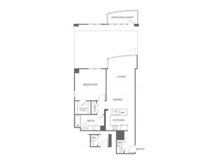 Plan 7 | 1 bed 1 bath | from 790 square feet