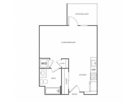 0a | Studio1 bath | from 516 square feet