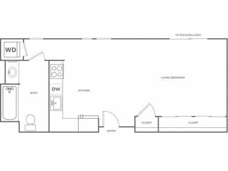 0b | Studio1 bath | from 523 square feet