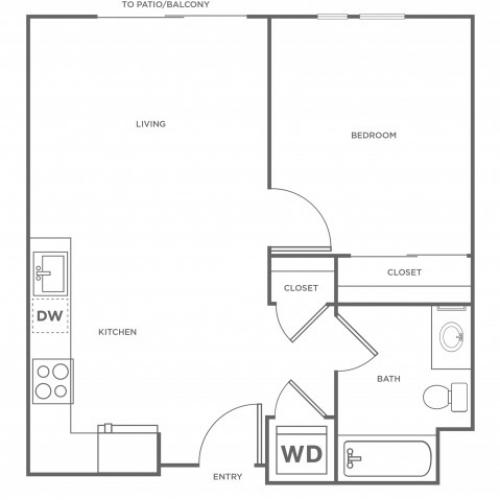 1a | 1 bed 1 bath | from 616 square feet