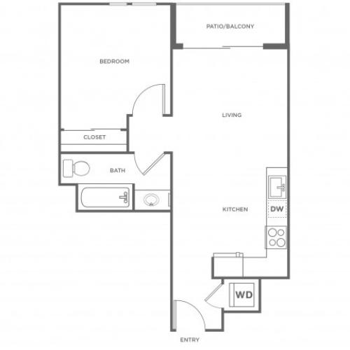1b | 1 bed 1 bath | from 652 square feet
