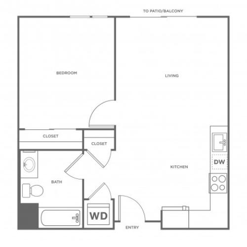 1d | 1 bed 1 bath | from 662 square feet