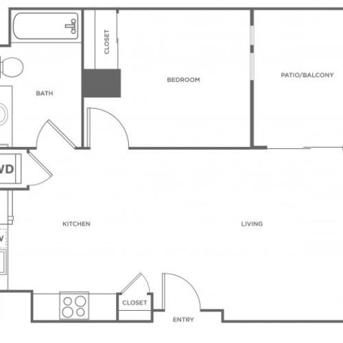 1c | 1 bed 1 bath | from 665 square feet