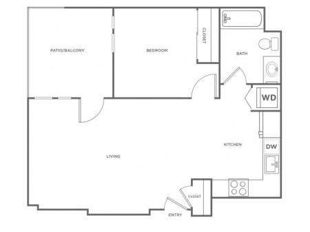 1f | 1 bed 1 bath | from 695 square feet