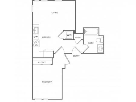 1e | 1 bed 1 bath | from 602 square feet