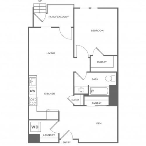 1j | 1 bed 1 bath | from 797 square feet