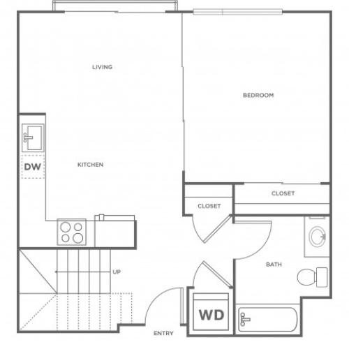 2j | 2 bed 1 bath | from 878 square feet