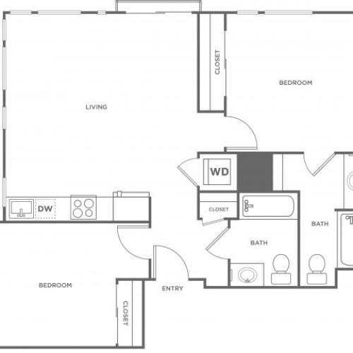 2d | 2 bed 2 bath | from 976 square feet